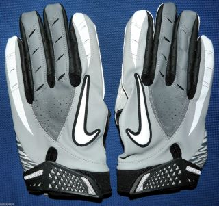 Nike Vapor Jet Football Magnigrip CL Gloves Grey White Black Mens