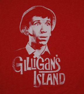 Gilligans Island Gilligan Head Funny TV Show Soft T Shirt Tee