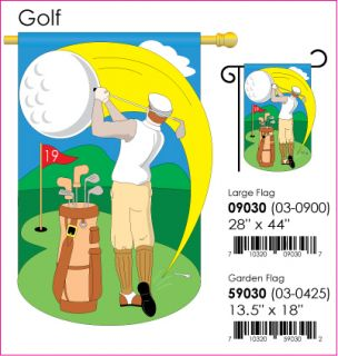 18 x 13 Golf Golfer Outdoor Garden Flag