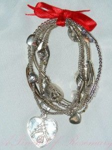 Good Charma Sterling Silver Lucky Love Charm Bracelet