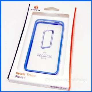 New Griffin Reveal Frame iPhone 4 Bumper Case Blue