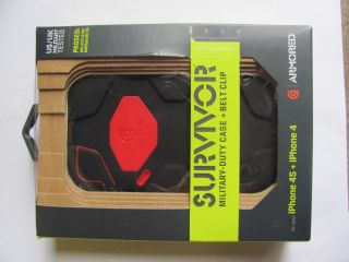 Griffin Survivor Military Duty Case Cover w Belt Clip for iPhone 4 4S