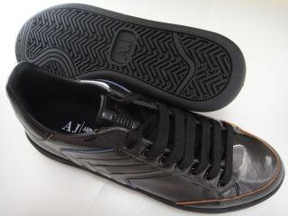 Armani Jeans Mens QM503 Black Designer Casual Fashion Sneakers Shoes