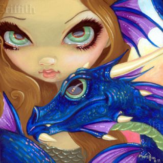 Fairy Face 166 Jasmine Becket Griffith Big Eye Fantasy Dragon Signed