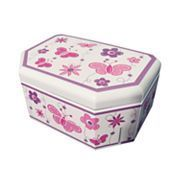 Girls Mele Floral Butterfly Musical Jewelry Box Pink Multi Brand New
