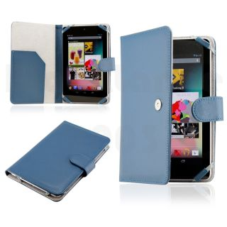 Blue PU Leather Magnetic Case Cover for New Google Nexus 7 Asus Tablet