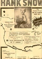 Hank Snow 1950 Ad Newest Star on WSM Grand Ole Opry