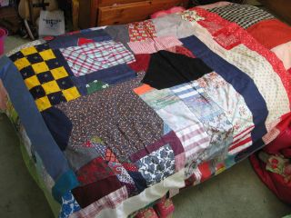Handmade Quilt Vintage Reversible Quilt Twin Size Girls Bed