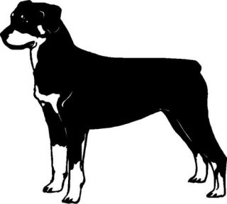 Rottweiler Dog Graphic Sticker Decal