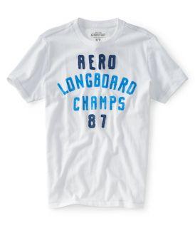 Aeropostale Mens Aero Longboard Champs Graphic T Shirt