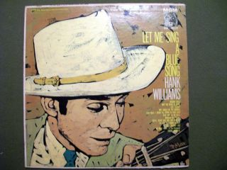 Hank Williams Let Me Sing A Blue Song Vinyl Record