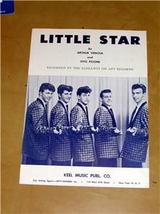1958 Doo Wop The Elegants Hit Little Star Sheet Music