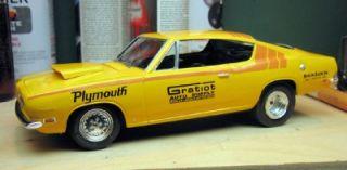 Gratiot Auto Parts 69 Cuda Decals Model Slot Car