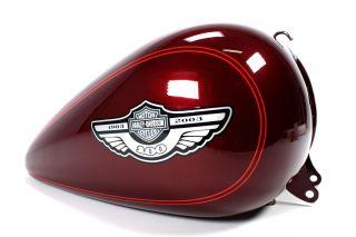 Harley Davidson 100th Anniversary Softail Tank   Luxury Rich Red