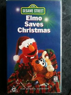 elmo saves christmas sesame street vhs video - Sesame Street Elmo Saves Christmas