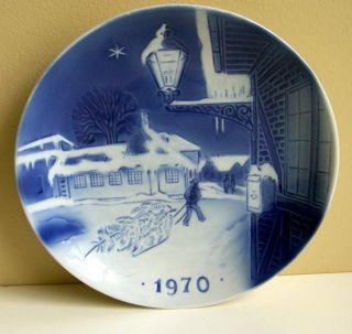 1970 1st Ed Christmas Plate Hans Christian Andersens House Svend