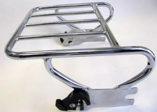 Up Detachable Luggage Rack for 97 08 Harley Davidson Touring