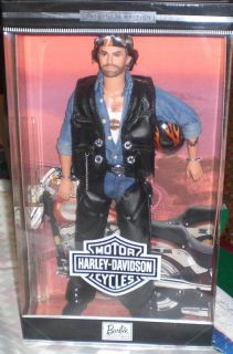 Harley Davidson Motorcycles Barbie Ken Doll 2nd NRFB 1999 Leather Vest