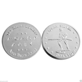 Gram Silver Bullion Minute Man 2nd Amendment Molon Labe Pure Silver