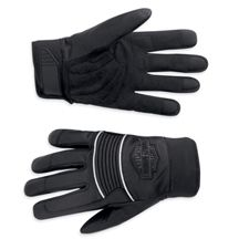 Harley Davidson Mens Reflective Full Finger Leather Gloves 97265 12VM