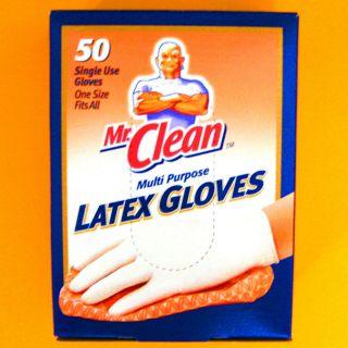LATEX GLOVES 50 Multi Purpose Single Use One Size in Dispenser Box NIB
