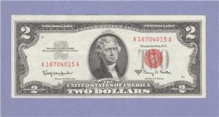 VF 1963 A Two Dollar Bill $2 Note Granahan Fowler Red Seal 16704015