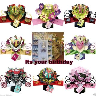 Happy Birthday Pop Up Cards 18th 21st 30th 40th 50th 60th 70th More