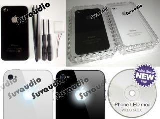 iPhone 4 / 4S illuminated apple logo modification kit glowing LED case