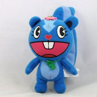 Happy Tree Friends Petunia Blue Plush Stuffed Doll Ball Chain 4 10cm