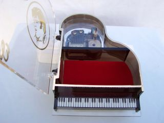 Grand Piano Musical Jewelry Box Plays LOVE ME TENDER   EC In Box