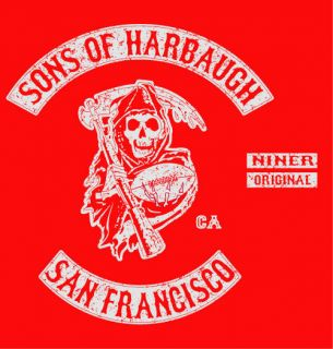 Sons of Harbaugh San Francisco Jim 49ers T Shirt XXL