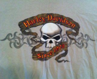Harley Davidson Skull XXL T Shirt Longhorn H D Grand Prairie TX