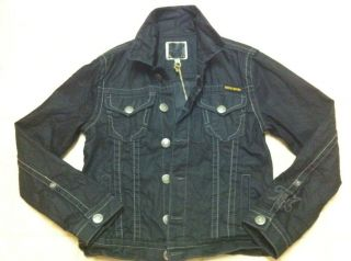 MEK Denim Co Harbin Black Denim Jacket Sz M Medium