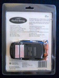 Harbor Breeze Universal Fan & Light Remote Control, NEW in Box