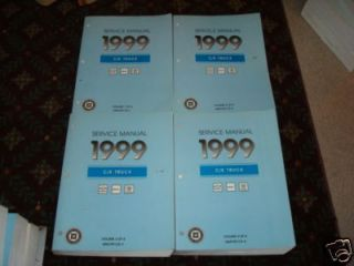 GM SILVERADO SIERRA CHEVRLOET TRUCK SHOP SERVICE REPAIR MANUAL BOOKS
