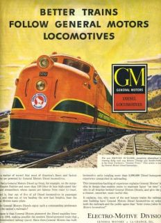 1948 Great Northern RR Full Page Magazine Ad GM