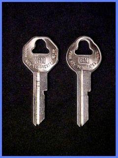 GM Key Blanks Rare OEM Keys For Vintage GM Cars & Trucks 1940   1966