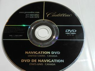 GM Cadillac Navigation Disc DVD 25853487 86271 60V712