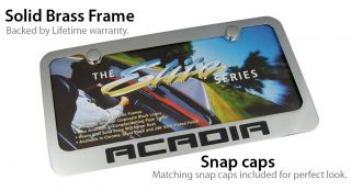 GMC Acadia Chrome Brass License Plate Frame