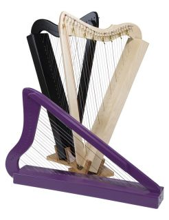New Purple Sharpsicle Irish Celtic Harp 8 Levers Book DVD Hand Made in