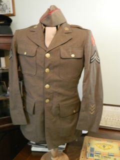 IDD WWII US Army Uniform 63rd Infantry Artillery Blood and Fire Div