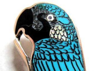Harlan Coonsis Blue Macaw Fascinating Zuni Inlay Art