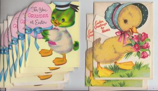 39 Vintage Valentine Easter Greeting Cards Unused with Envelopes for