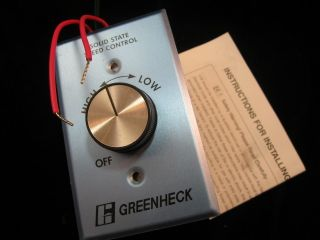 Greenheck Solid State Motor Speed Control KBWC 15K