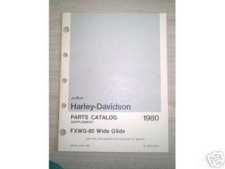 NOS OEM Harley Davidson Shovelhead FXWG Parts Cataloge