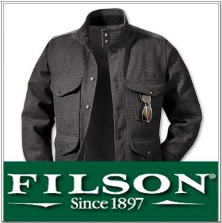 Filson Greenwood Wool Jacket 10202 Charcoal Size Medium