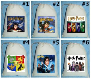 Harry Potter Birthday Party Favor Candy Loot Treat Drawstring Bags