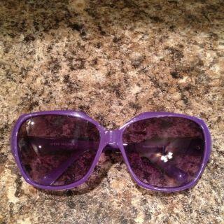 Steve Madden Womens Purple Trend Sunglasses EUC
