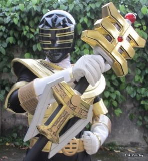 Power Zeo Gold Ranger 1 1 Cosplay Costume Set