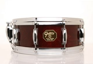 Gretsch 5x14 USA Custom Maple Snare Drum Rosewood Lacquer Free
